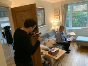 Man filming for content creation agency